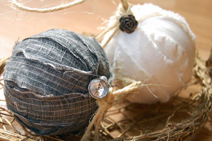 Декорирование новогоднего шара
