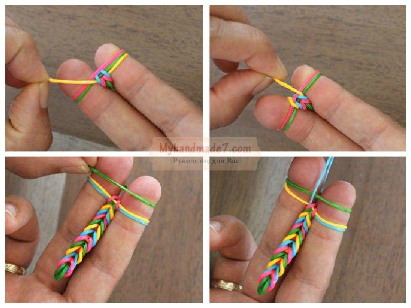 Плетение резинок своими руками видео