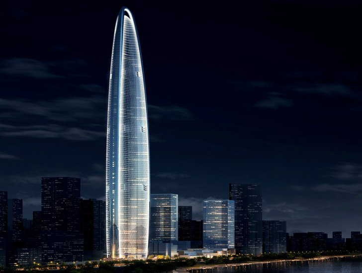 Wuhan Greenland Center в городе Ухань, Китай