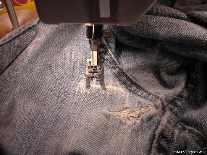 Швейная машинка как сделать заплатку