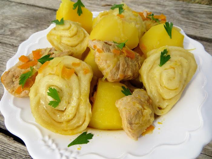 Немецкие штрудли - тесто на кефире