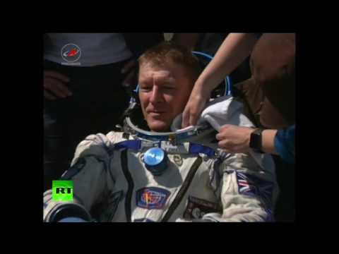 В Казахстане встретили экипаж МКС-46/47
