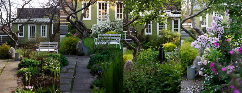 Сад с весны до осени