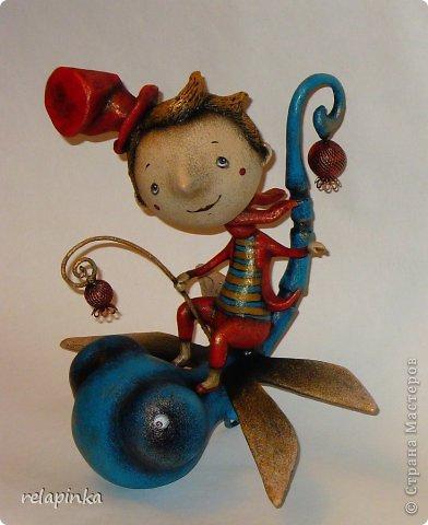 Игрушка Папье-маше На встречу ветру Бумага фото 1