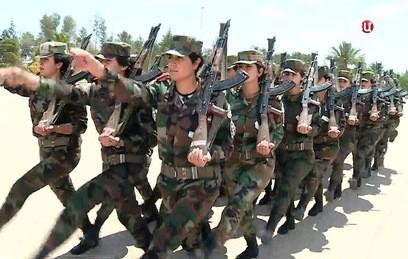 Военное училище для женщин в Сирии встречает новых курсантов