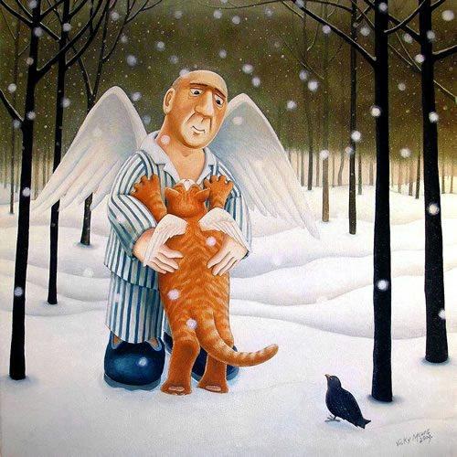 Котики в картинах Вики Маунт (Vicky Mount)