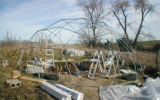 Каркас купольного строения