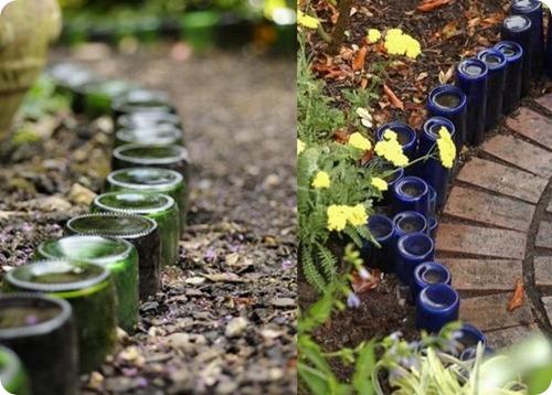 Декор своими руками для сада из бутылок