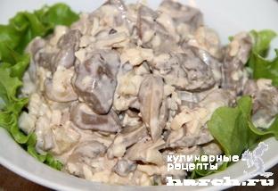 Рецепты из куриной печени с грибами
