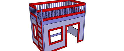 Игрушечный домик-кроватка