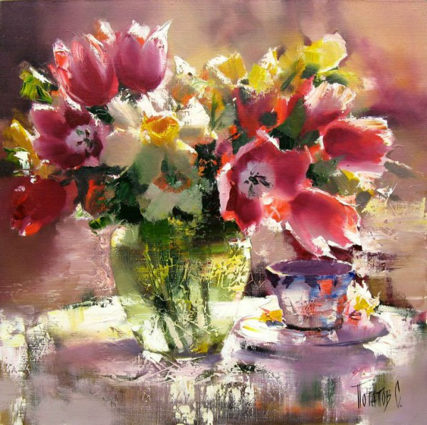 натюрморты цветы-14