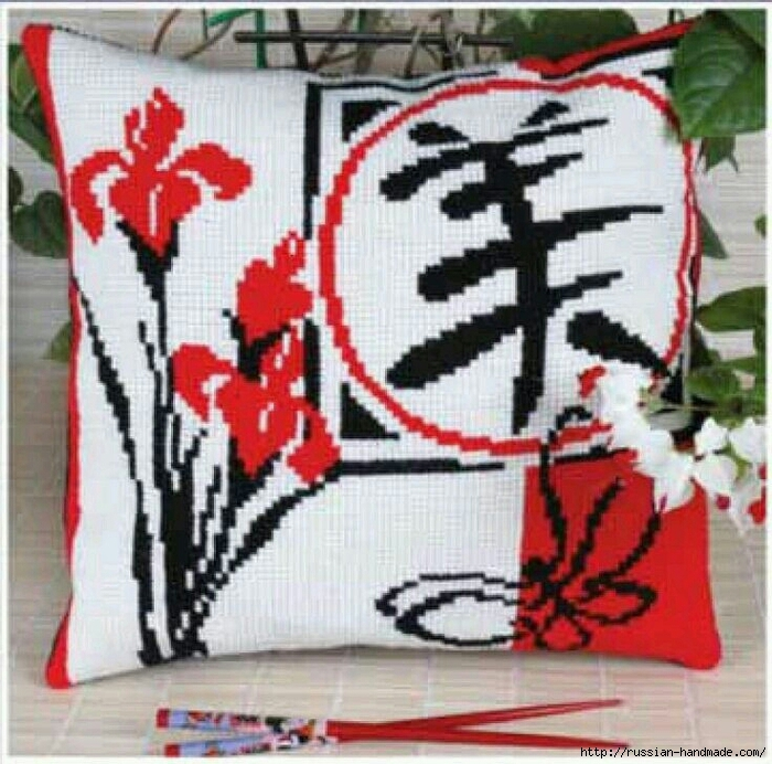 Бесплатные схемы вышивки крестом в японском стиле