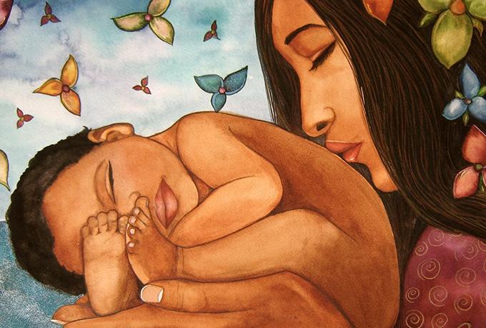 Мама для больного малыша — лекарство посильнее таблеток, порошков и микстур