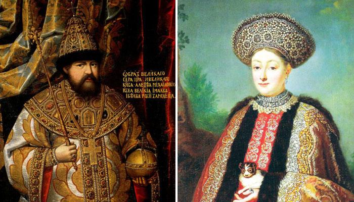 Церемониальная одежда русских царей была богато расшита жемчугом