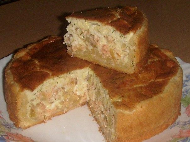 Сырно-луковый пирог с рыбой!