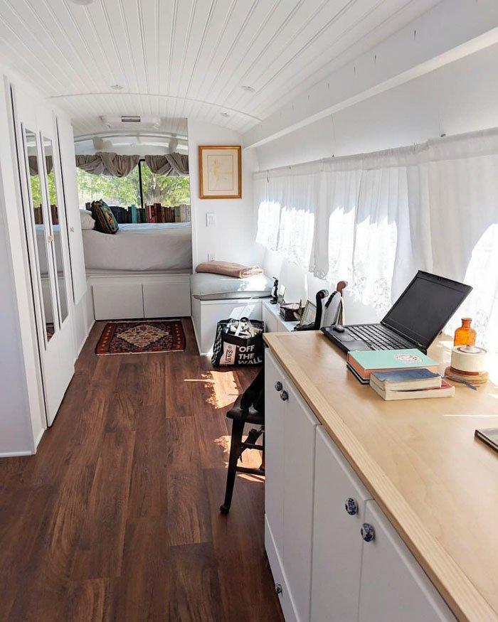 """""""Вид из кухни на спальню"""" автобус, дизайн, дом, идея, проект, сделай сам, фото"""