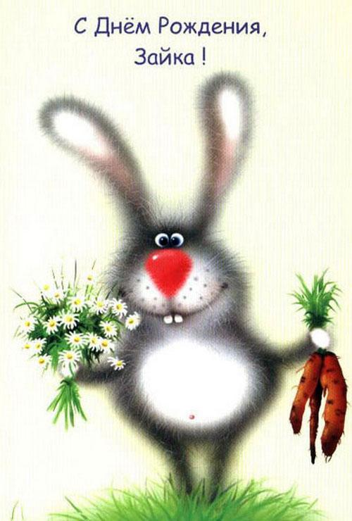 Прикольные поздравления от зайца