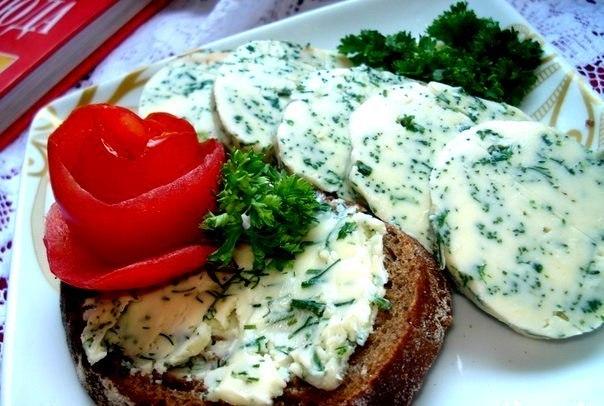 Масло бутербродное домашнее с зеленью