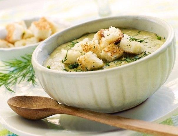 Крем–суп с плавленым сыром и картофелем