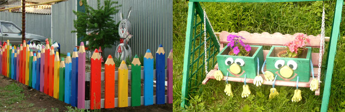 Как украсить сад на даче