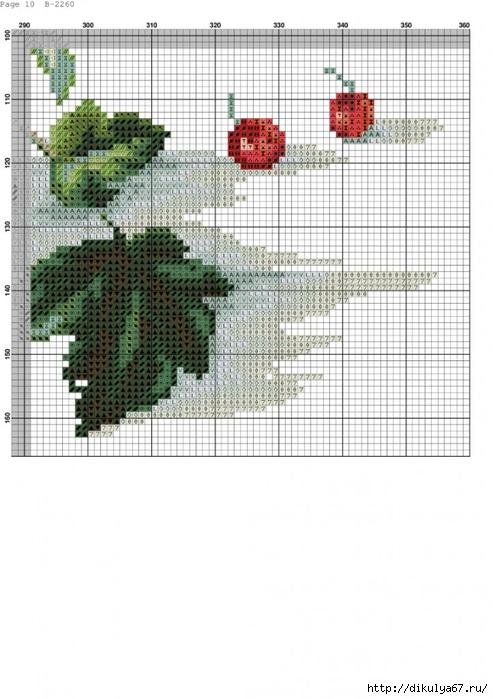 Вышивка крестом схема смородины 104