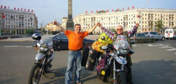 Владимир Ярец на мотоцикле BMW F650GS