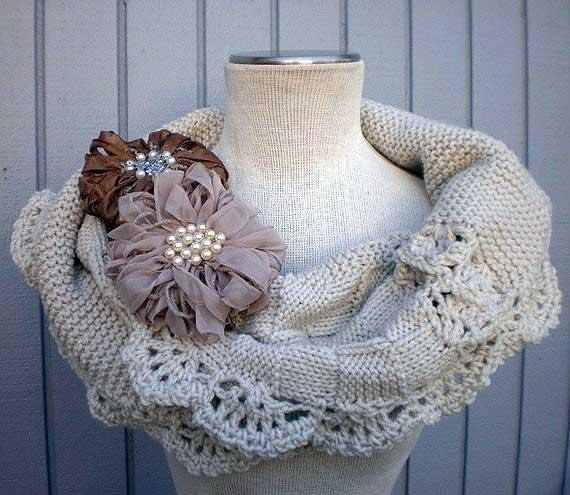 Эффектные шарфы-снуды