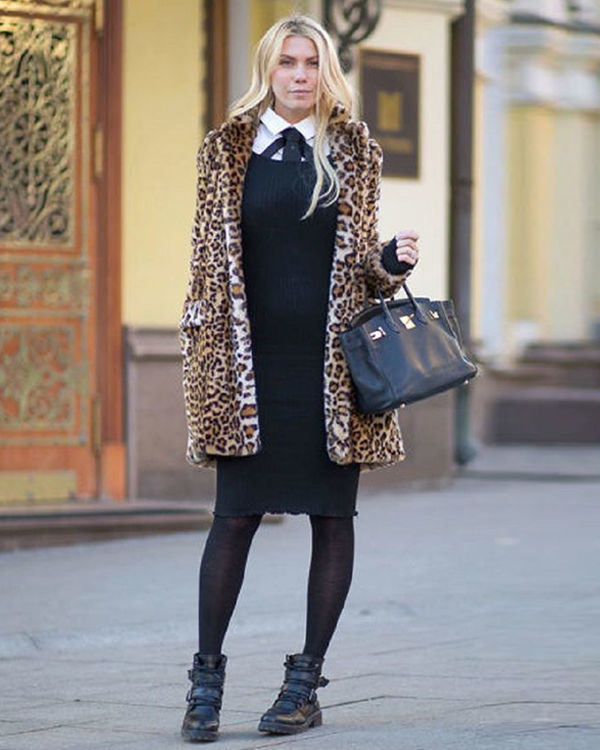 леопардовое пальто фото