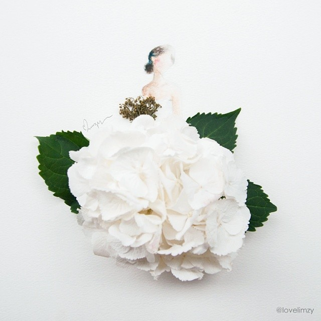 Рисунки из акварели и цветов акварель, рисунки, цветы