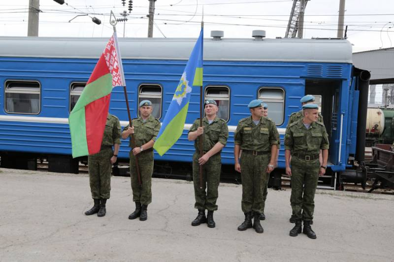 Белорусские десантники прибыли в ЮВО на совместное учение