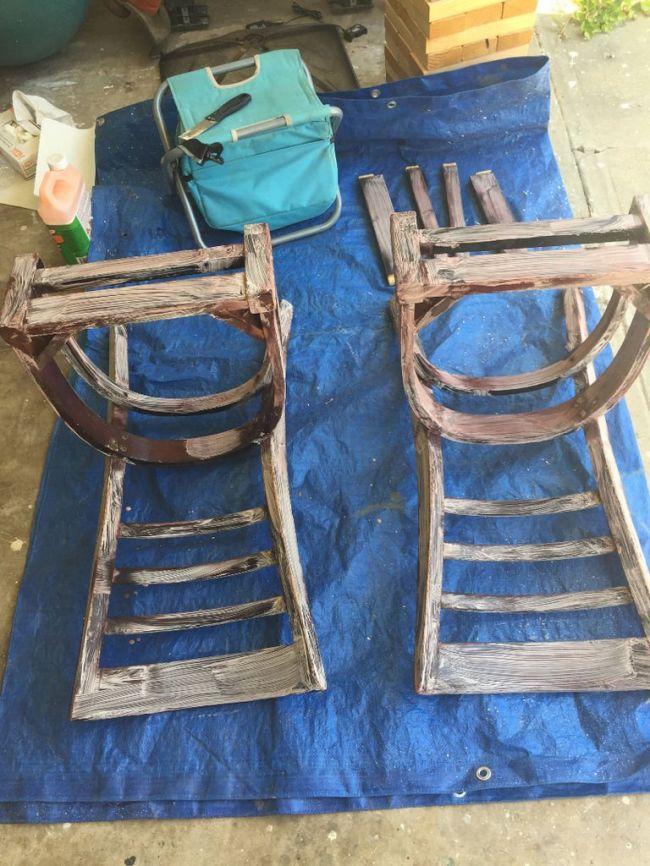 Скамейка своими руками из старых стульев