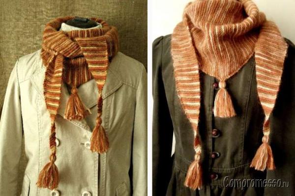 Вязание платков на шею
