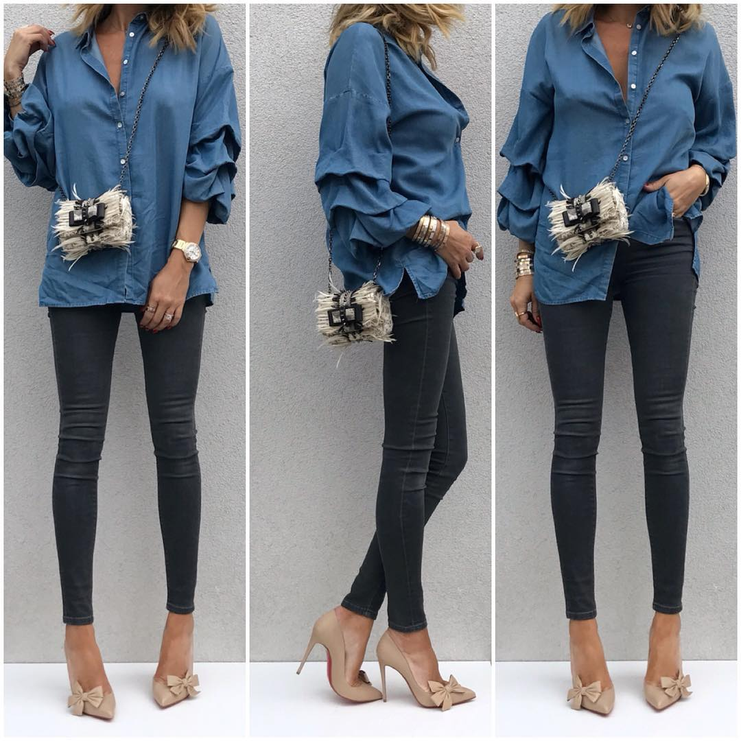 7 новых способов носить рубашку модно осенью, не потратив ни копейки