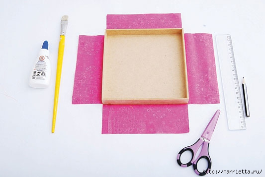Как обклеить коробку с подарком 6