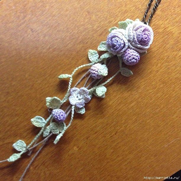 Украшение и декор предметов цветочками крючком (16) (612x612, 230Kb)