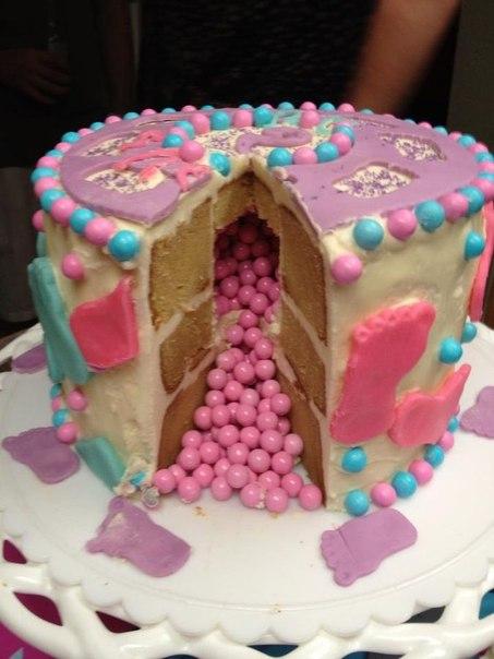 Торт с полом ребенка своими руками 23