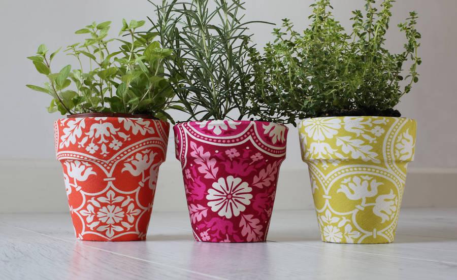 Декор горшков для цветов с фото