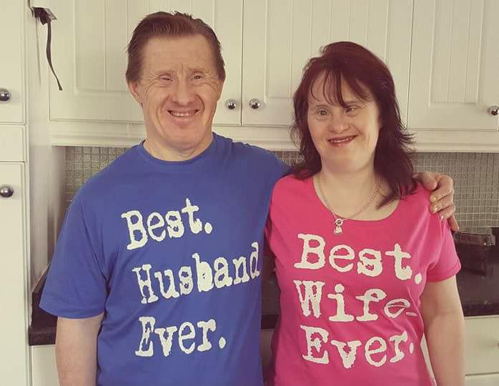 Первая в истории супружеская пара с синдромом Дауна отметила 22 года брака