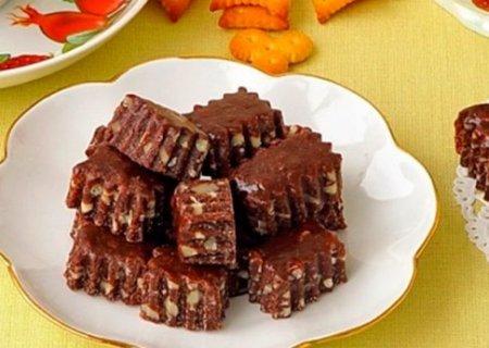 Шоколадно-ореховые тянучки.
