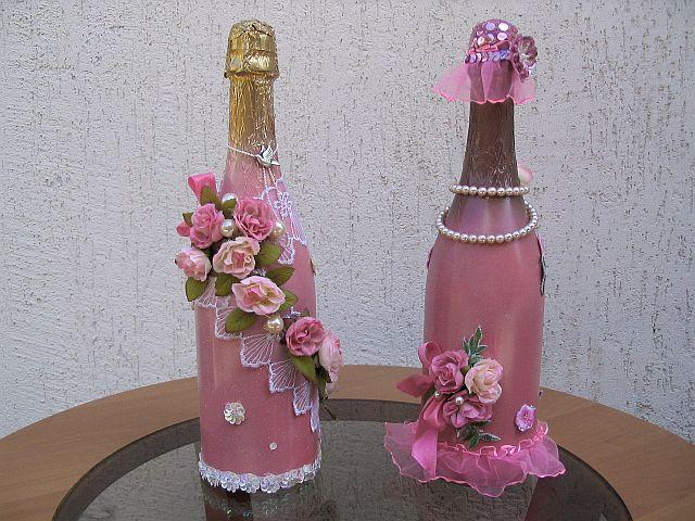 Украшаем бутылку на свадьбу своими руками мастер класс