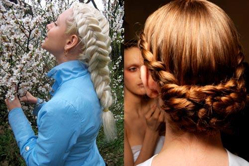 коса наоборот