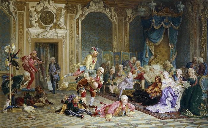 Шуты при дворе императрицы Анны Иоанновны. <br> В. Якоби, 1872 год. | Фото: runivers.com.
