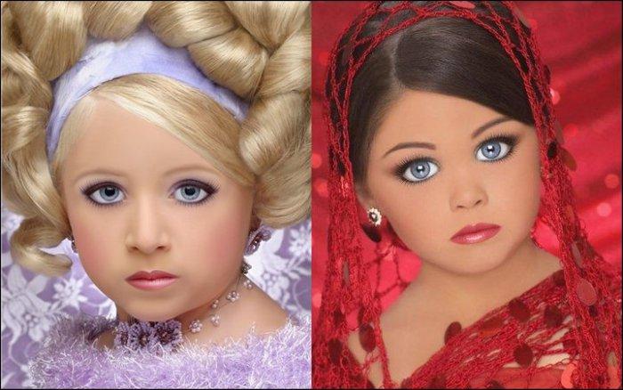 Детские конкурсы красоты: что приходится выдерживать девочкам ради красивых снимков для их мам