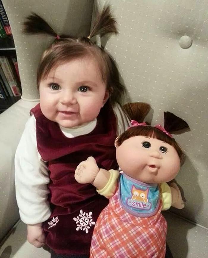 39. Девочка – куколка вещи, люди, похожие лица, схожесть