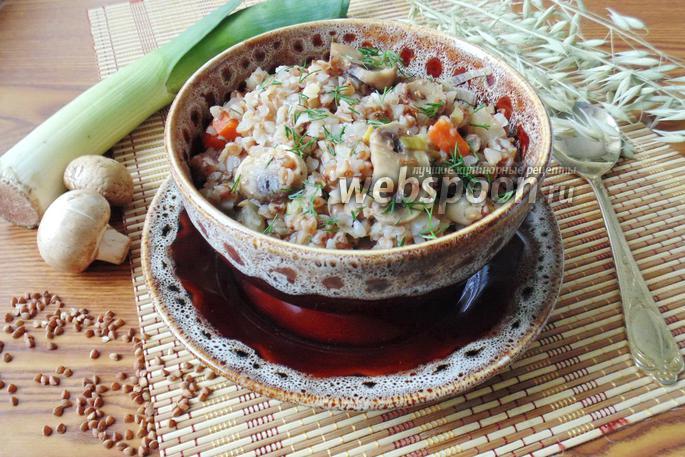 Гречневая каша с грибами и луком рецепт