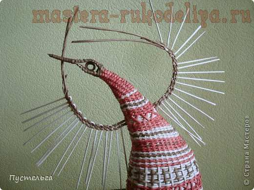 Мастер-класс по плетению из газет: Пташечка
