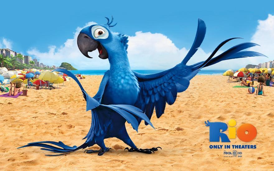 Гиацинтовый ара в мультфильме «Рио»
