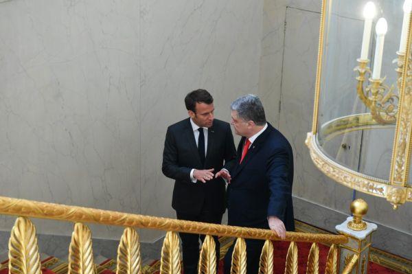 Встреча Э. Макрона с П. Порошенко в Париже