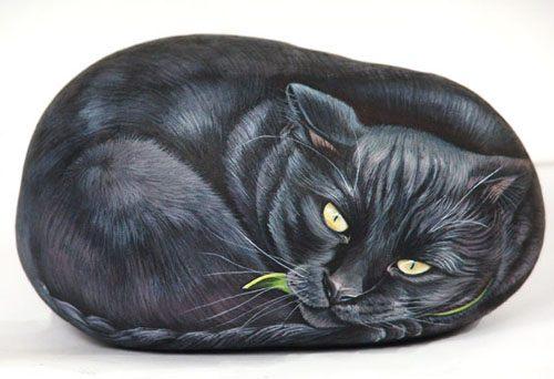 Рисунки на камнях от Ernestina Gallina