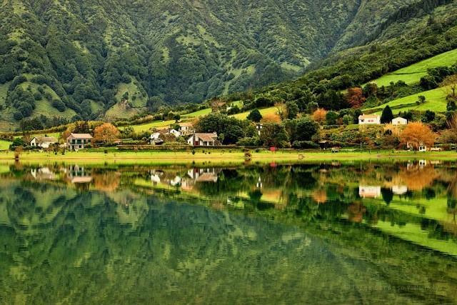 Lagoa das Sete Cidades красота, озера, природа